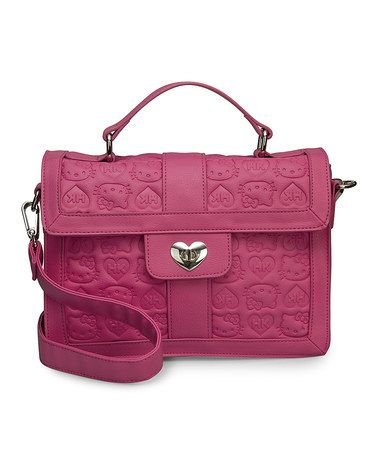 Look what I found on #zulily! Pink Hello Kitty Embossed Satchel by Loungefly #zulilyfinds