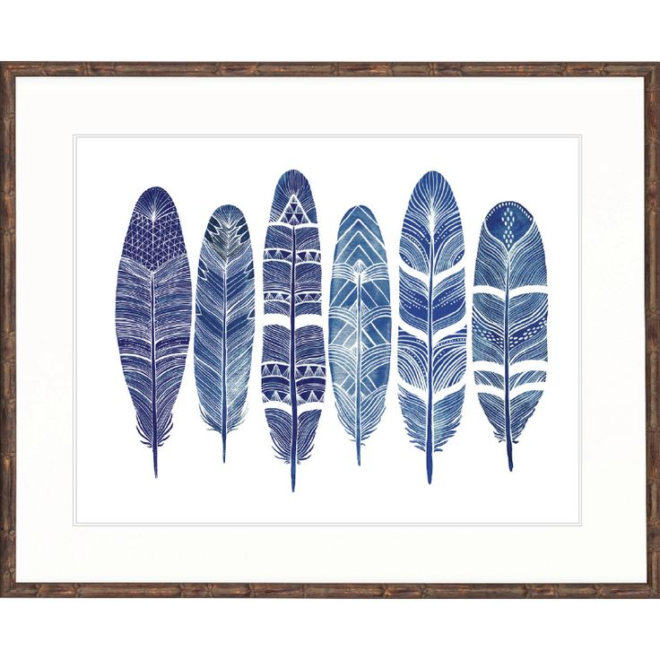 Feather Abstract Collection (Indigo) | Various SizesThe Block Shop - Channel 9