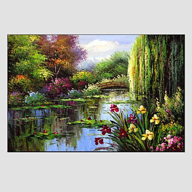 Oil Painting Modern Landscape , Canvas Material with Stretched Frame Ready To…