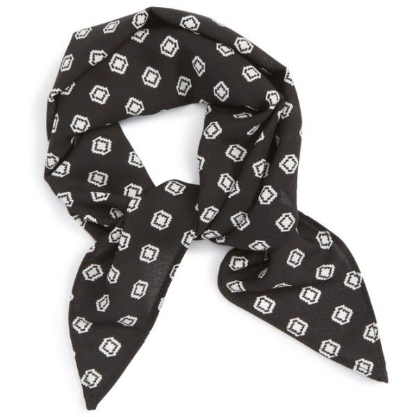 Women's Vanessa Mooney The Annaliese Bandana (281.130 IDR) ❤ liked on Polyvore featuring accessories, scarves, fillers, black, vanessa mooney bandana, vanessa mooney, polka dot scarves, polka dot bandana and wrap shawl