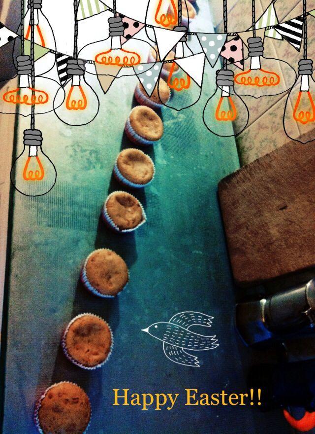 Muffin alle carote e farina integrale