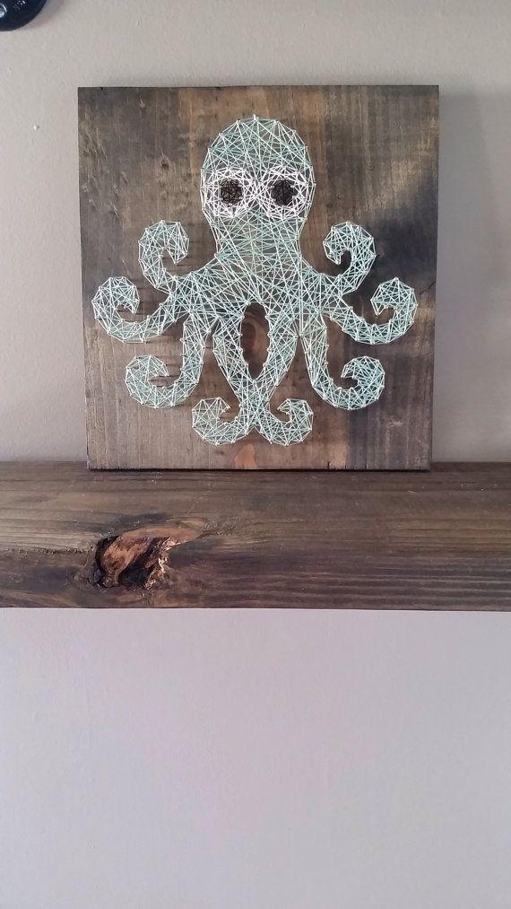 String art Octopus by TrashyAshleys on Etsy