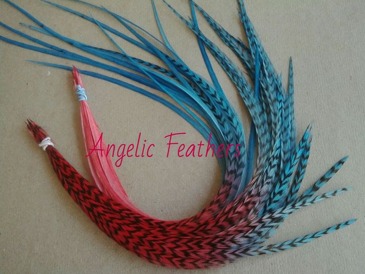 SPICY SALSA OMBRE TYE DYE FEATHER HAIR EXTENSIONS