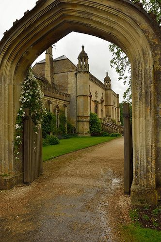 Lacock Abbey, Wiltshire, England - has medieval cloisters used in the Harry Potter films