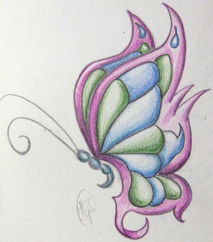 Dibujos a color de mariposas - Imagui
