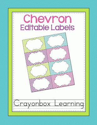 FREE Chevron Editable Labels