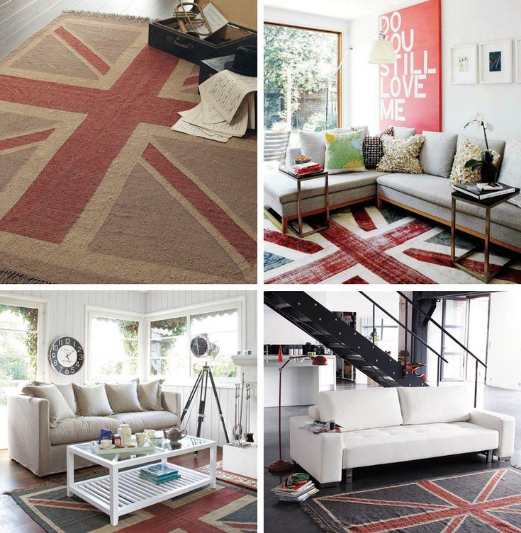 Engels interieur - tapijt met Britse vlag