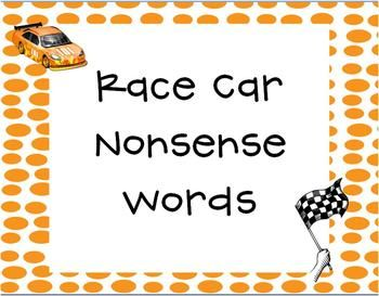 This is a great resource for students to practice nonsense words.  These nonsense words are all 2 or 3 letter words that contain a short vowel. This product will help students with DIBELS- nonsense word fluency.    Each race track can be used as a center, during small group, or independent practice.