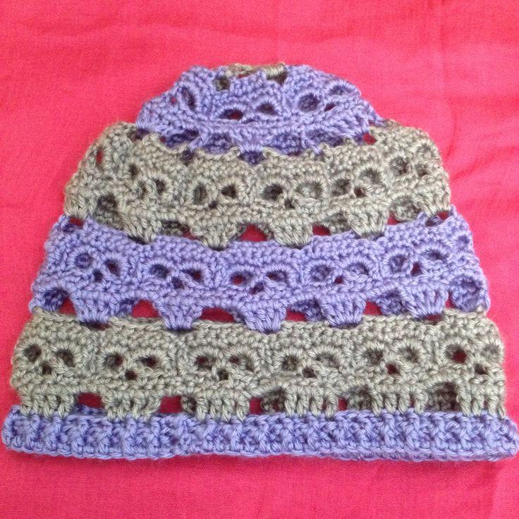 Contemporáneo Crochet Libre Patrón Casquillo Del Cráneo Elaboración ...