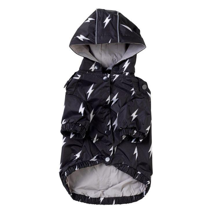 Hooded Raincoat - Lightning Bolts
