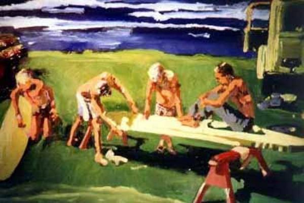 Surf artist Norm Daniels