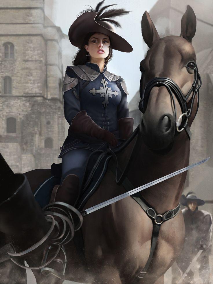Valentine D' Artagnan, Rizky Nugraha on ArtStation at https://www.artstation.com/artwork/bJlEa