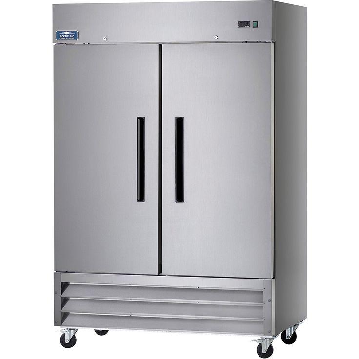 Double Door Fridge Freezer Part - 44: Arctic Air Stainless Steel, Reach-in Double Door Refrigerator AR49