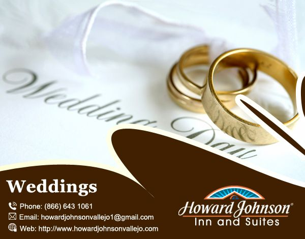 Howard Johnson Inn & Suites of Vallejo is Perfect Luxury Hotel for #Weedings. Visit Us At:- http://bit.ly/2ctBog5
