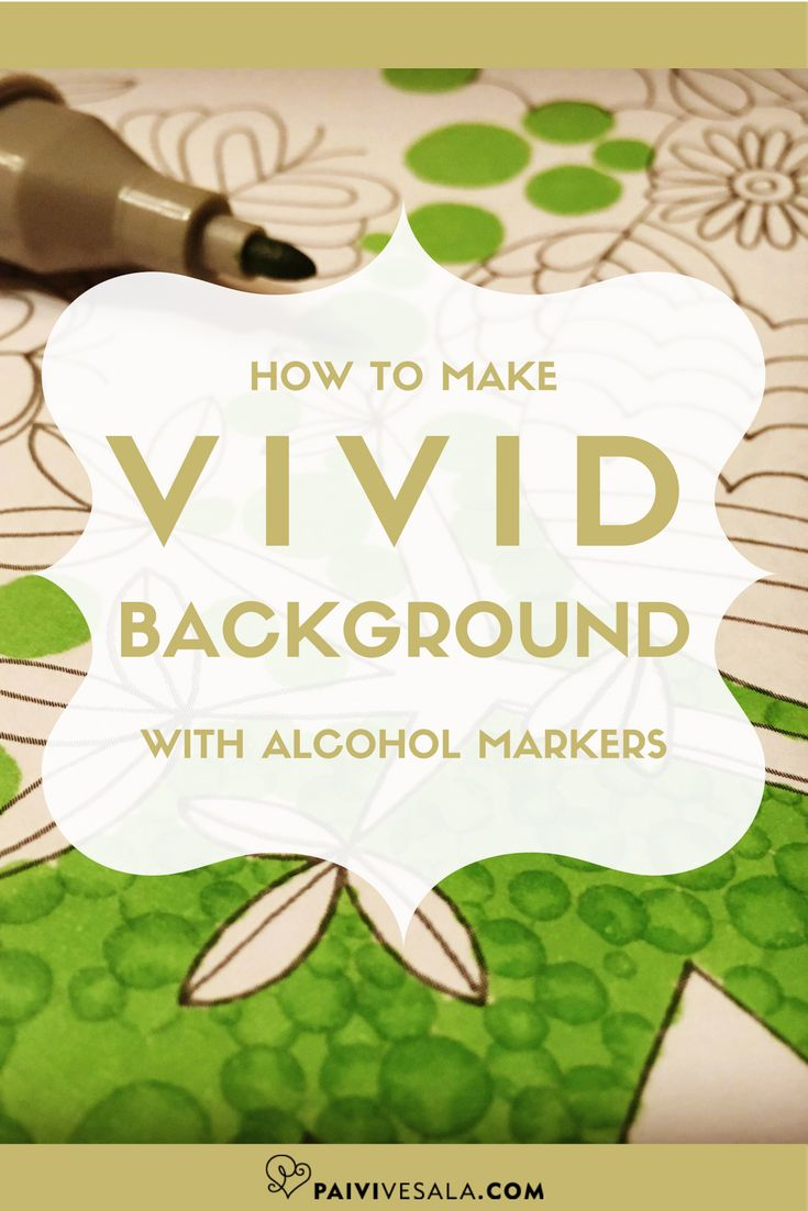 Coloring a large area with alcohol marker might get very boring and irritating. Here is a technique to make it fun!