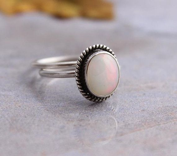 Ethiopian opal ring  Natural Opal  Artisan ring  by Studio1980, $155.00