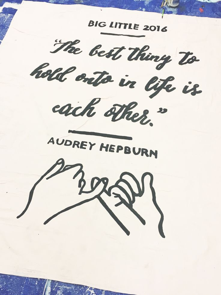 university of arkansas - alpha omicron pi (aoii) - sorority banner - big little banner - big lil banner - audrey hepburn quote - sisterhood