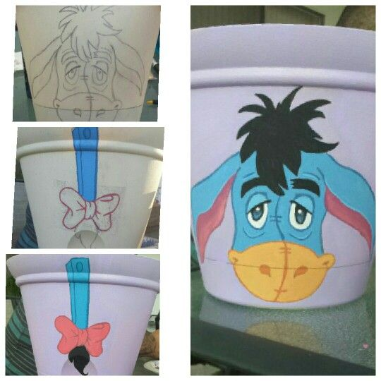 Eeyore!!! Painted on a flower pot for lavender! | Painted ...