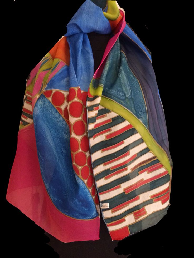 19 best Hand painted silk scarves 2 images on Pinterest ...