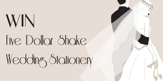 Win up to £500 worth of bespoke, handmade Wedding Stationery for your big day. To be in with a chance of winning, just register your details at our Wedding Stationery website using the link below... http://www.fivedollarshakeweddings.com/howtoorder/registration Closing Date is Monday 31st March.