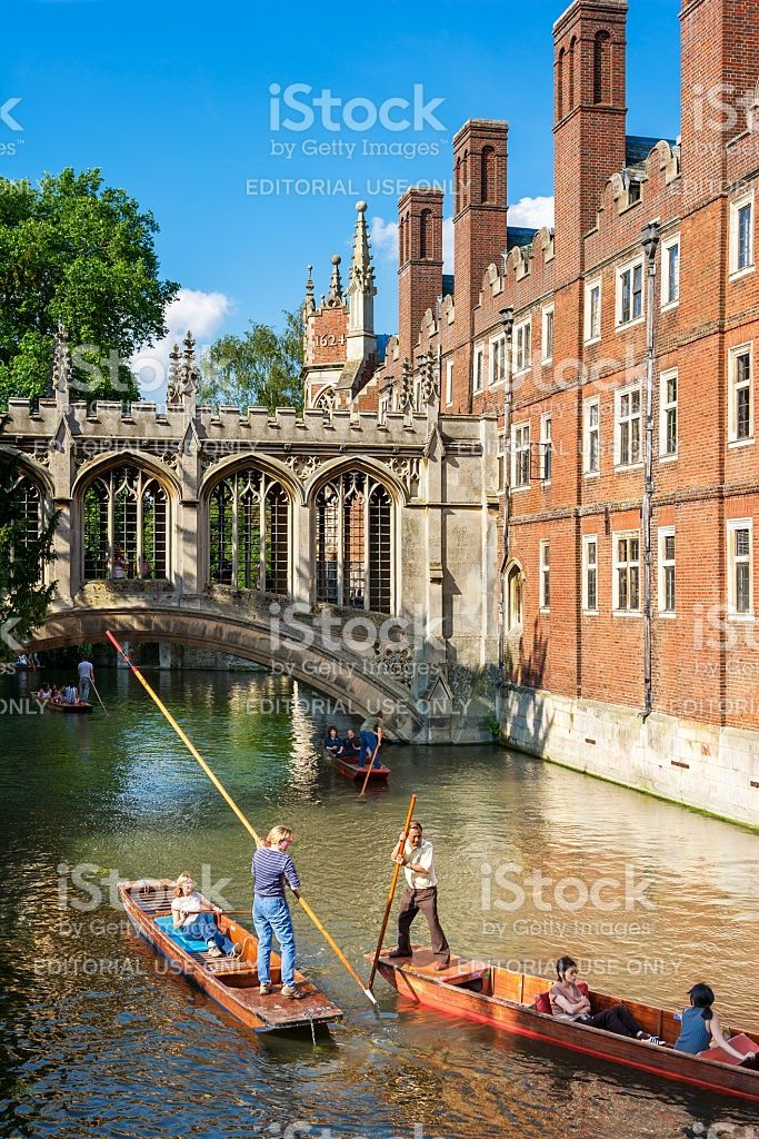 Bridge of Sighs of St John's College, Cambridge, United Kingdom royalty free stockfoto
