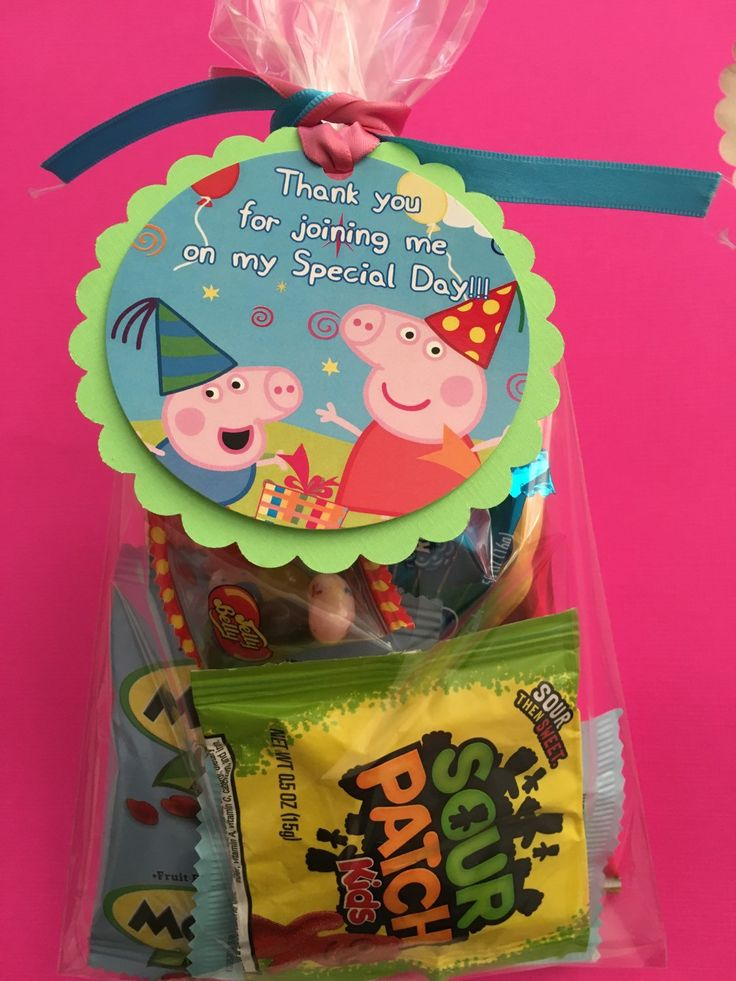 Peppa pig favor tags Peppa pig party supplies candy bag tags