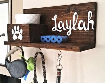Dog Leash Holder Dog Tag Personalized Dog Collar Dog by KaysDekor