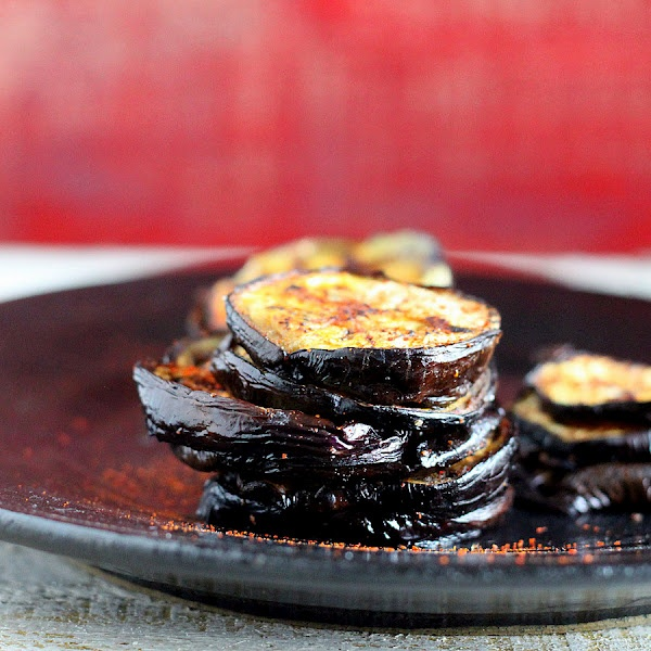 Chili Eggplant Stacks. vegan glutenfree recipe and a Giveaway!
