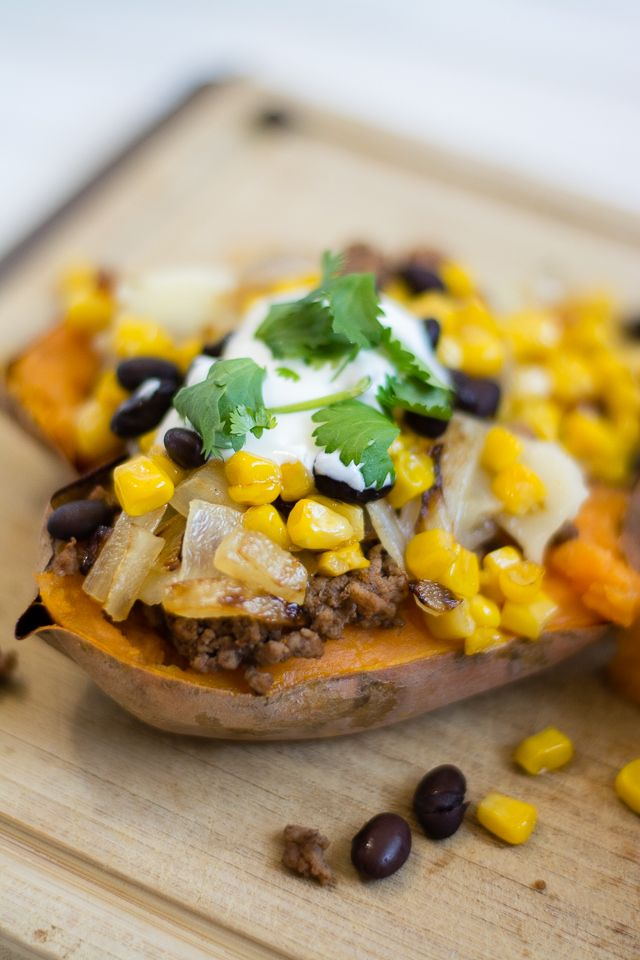 loaded habanero sweet potatoes (healthy, delicious, and FULL of flavor!)