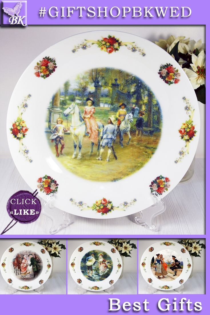 """Cesare Auguste Detti """"ELEGANT FIGURES"""".   Our porcelain plates are ideal for interior and will look great in your collection!   #giftshopbkwed #decor #home #accessory #gift #porcelain #picture #print #accessories #walldecor #plates #homedecor #shabbychic #frenchstyle"""