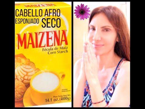 Maizena Para el Cabello Afro Rebelde Esponjado Feo / Cornstarch for Afro, Frizzy and Dry Hair - YouTube