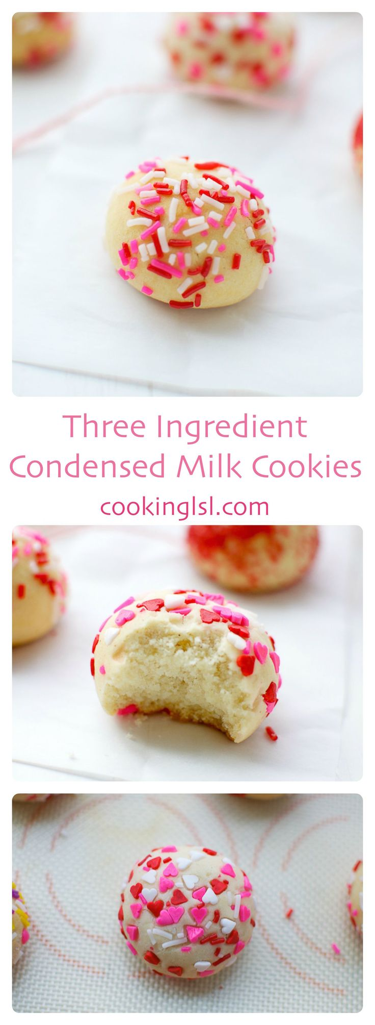 condensed-milk-cookies-three-ingredient #breastcancerawareness #october