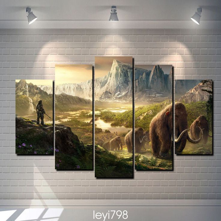 Modern Abstract Print Wall Art Home Decor,Takkar Mammoths Far Cry Primal Game 5P