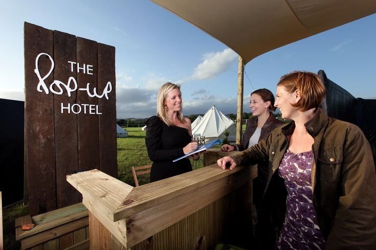 Welcoming guests at our first pop-up at Glastonbury Festival
