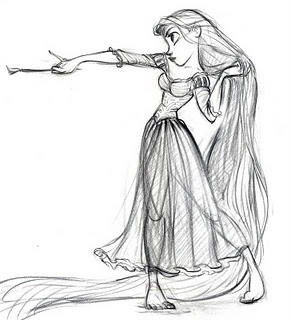 """Glen Keane's Rapunzel. If you don't have the """"Art Of"""" this one, you're missing out. It's packed with incredible drawing and painting."""