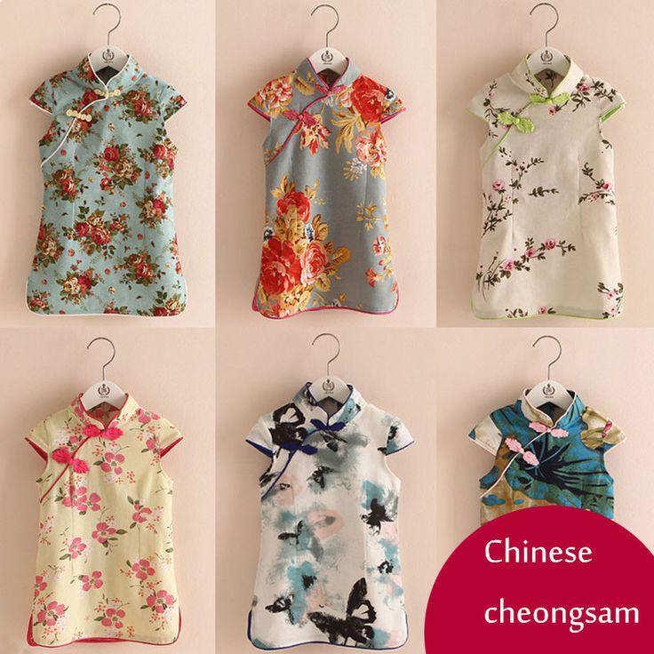 $16.60 (Buy here: https://alitems.com/g/1e8d114494ebda23ff8b16525dc3e8/?i=5&ulp=https%3A%2F%2Fwww.aliexpress.com%2Fitem%2FChildren-print-dress-girls-cheongsam-kids-clothing-2016-summer-Chinese-style-children-s-clothing-girls-short%2F32673159998.html ) Children print dress girls cheongsam kids clothing 2016 summer Chinese style children's clothing girls short sleeve dress thin for just $16.60