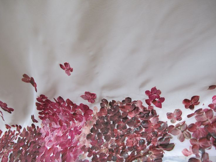 Tessuto dipinto a mano tessitura Verga di Cadorago