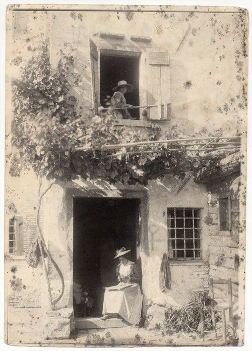 Italy - 1890 like a scene right out of enchanted april or room with a view