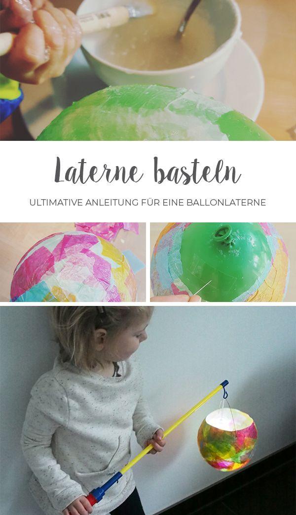 Laterne basteln mit Kleinkindern // DIY