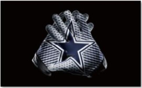 Dallas Cowboys Flag NFL 2 Gloves Flag