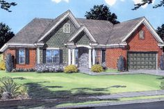 European Exterior - Front Elevation Plan #46-139 - Houseplans.com