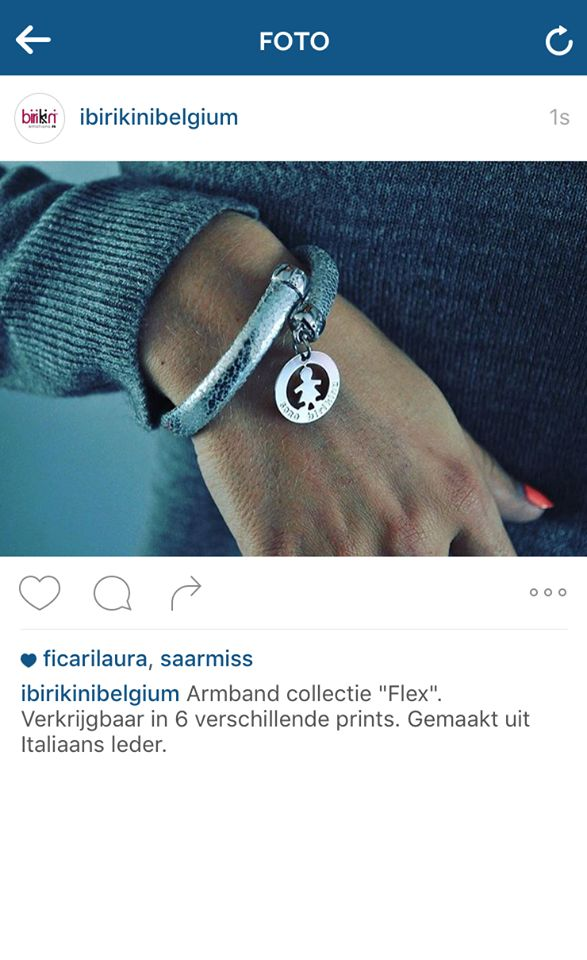 Grazie al nostro partner #birikini in #Belgio per questo raffinato scatto con il bracciale #flex argento! #birikinidonna #sonobirikina