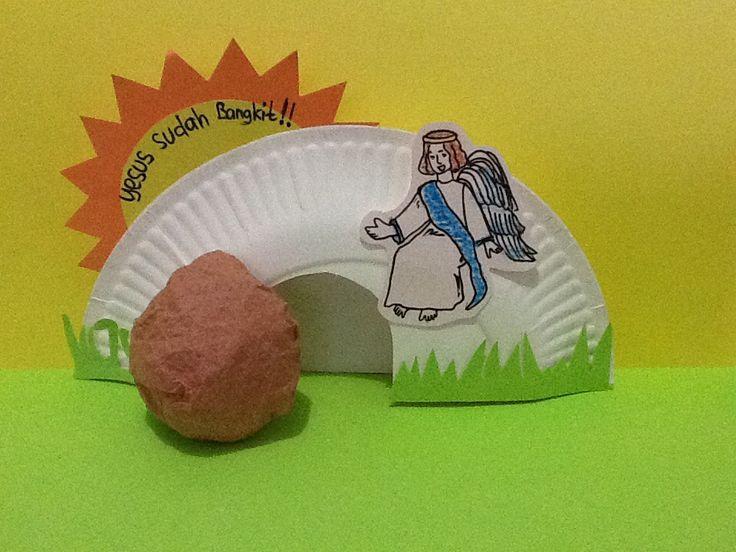 craft idea for sunday school... passover theme.  ide kreatifitas dgn tema Paskah (Yesus sudah bangkit)