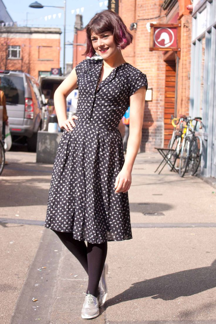 The bird print Ingrid dress from Circus #vintage #style #dublin #street #photography #fashion