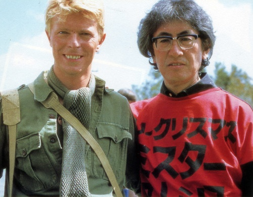 """Mr. David Bowie and Maestro Nagisa Oshima in """"Merry Christmas Mr. Lawrence."""""""
