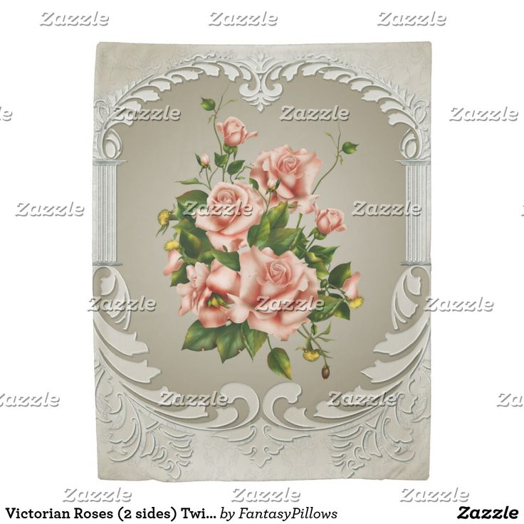 Victorian Roses (2 sides) Twin Duvet Cover