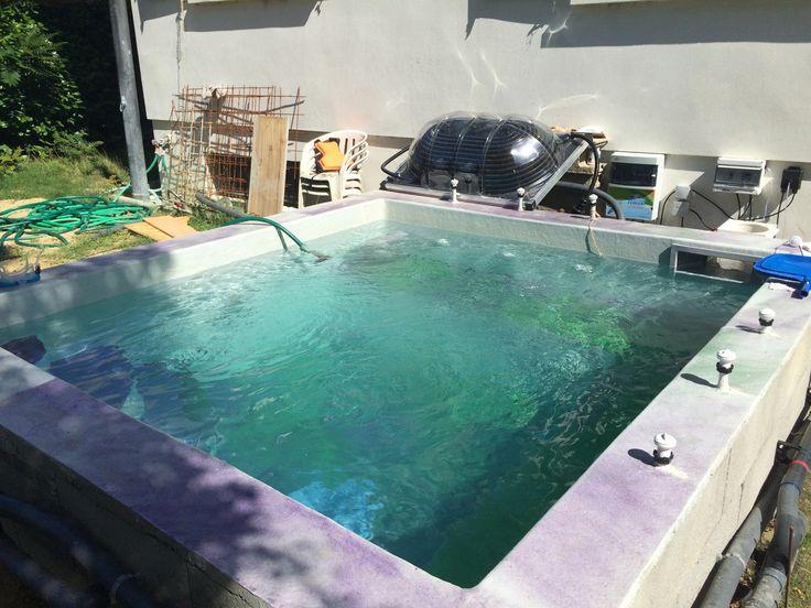 35 best spa exterieur terrasse images on Pinterest Swimming pools - comment construire sa piscine en parpaing