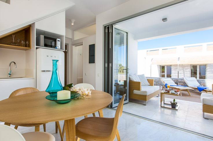 www.thalasses.com Thalasses Villas , Villa Melia in Pigianos Kampos, Rethymno, Crete, Greece #vacation_rental #thalasses_villas #4_luxurious_villas #villa_Melia #luxurious_accommodation #summer_holidays #privacy #summer_in_crete #Visit_Greece #outdoors #indoors #swimmingpool #sunbeds #sitting_areas #love_the_view #kitchen_area #dining_area