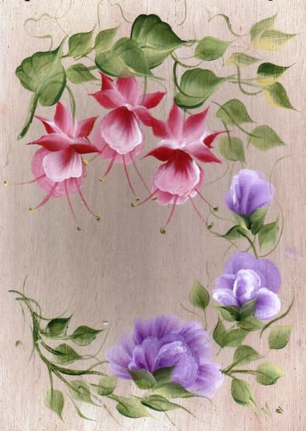 világos alapon virág
