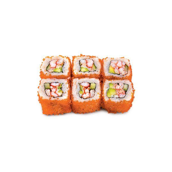 Доставка суши и блюд японской кухни. - Ролл с мясом краба, авокадо,... ❤ liked on Polyvore featuring food, fillers and food & drinks